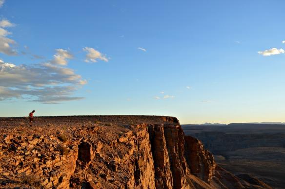 La meseta escarpada del Cañón