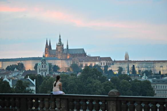 El atardecer en Praga